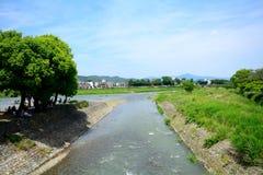 Ποταμός Hozu σε Arashiyama, Κιότο, Ιαπωνία Στοκ Εικόνες