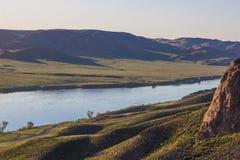 Ποταμός Ili, Καζακστάν Τοπίο στεπών την άνοιξη Στοκ φωτογραφίες με δικαίωμα ελεύθερης χρήσης
