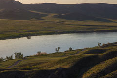 Ποταμός Ili, Καζακστάν Τοπίο στεπών την άνοιξη Στοκ εικόνες με δικαίωμα ελεύθερης χρήσης