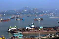 Ποταμός Irrawaddy και πόλη Sagaing - το Μιανμάρ στοκ φωτογραφία με δικαίωμα ελεύθερης χρήσης