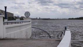 Ποταμός Irtysh στο Ομσκ Ρωσική Σιβηρία στοκ εικόνα