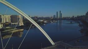 Ποταμός Ishim στον ορίζοντα απόθεμα βίντεο