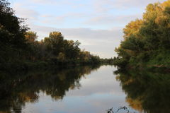 Ποταμός Ishim - συμπάθεια λίγος ποταμός στοκ εικόνα