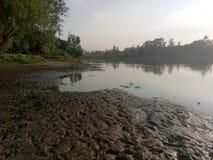 Ποταμός Jehlum - κοιλάδα του Κασμίρ Στοκ Εικόνα