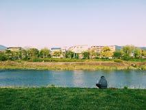 Ποταμός Kamogawa Στοκ Εικόνες