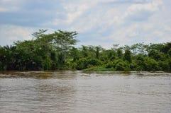 Ποταμός Kapuas Στοκ Εικόνες
