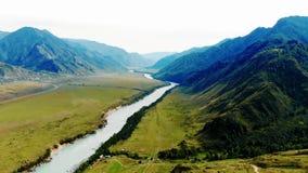Ποταμός Katun στη Δημοκρατία Altai απόθεμα βίντεο