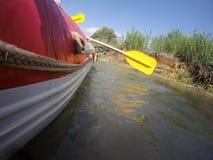 Ποταμός Kayaking στο βόρειο Ισραήλ Στοκ Εικόνα
