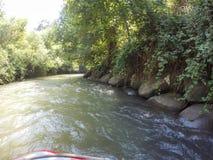 Ποταμός Kayaking στο βόρειο Ισραήλ Στοκ εικόνες με δικαίωμα ελεύθερης χρήσης
