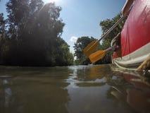 Ποταμός Kayaking στο βόρειο Ισραήλ Στοκ φωτογραφία με δικαίωμα ελεύθερης χρήσης