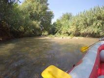 Ποταμός Kayaking στο βόρειο Ισραήλ Στοκ εικόνα με δικαίωμα ελεύθερης χρήσης