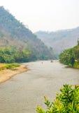 Ποταμός Kok στην περιοχή Taton, περιοχή της Mae AI, Chiang Mai, Ταϊλάνδη Στοκ εικόνα με δικαίωμα ελεύθερης χρήσης