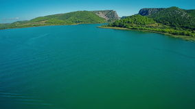 Ποταμός Krka, εναέριος πυροβολισμός Στοκ εικόνες με δικαίωμα ελεύθερης χρήσης