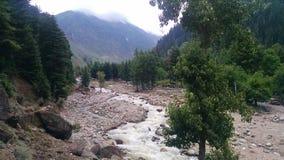 Ποταμός Kunhar Στοκ Εικόνες