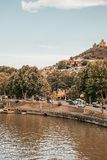 Ποταμός Kura στο Tbilisi στοκ εικόνα με δικαίωμα ελεύθερης χρήσης