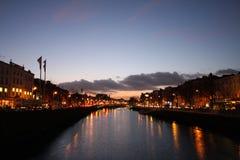 ποταμός liffey του Δουβλίνου Στοκ Φωτογραφίες