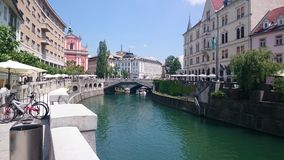 Ποταμός Ljubljanicaστοκ φωτογραφία με δικαίωμα ελεύθερης χρήσης