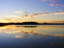 Ποταμός Maroochy, Maroochydore, ακτή ηλιοφάνειας, Queensland, Αυστραλία Στοκ Εικόνες
