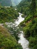 Ποταμός Marsyangdi κοντά στο χωριό Dharapani και Thoche - Νεπάλ Στοκ φωτογραφία με δικαίωμα ελεύθερης χρήσης