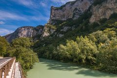 Ποταμός Metauro στο Marche apennines Στοκ Φωτογραφίες