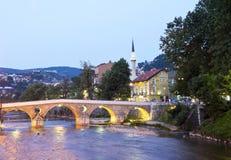 Ποταμός Miljacka Στοκ Εικόνες