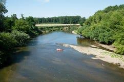 Ποταμός Morava κοντά στην πόλη Straznice, Τσεχία στοκ φωτογραφία με δικαίωμα ελεύθερης χρήσης