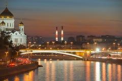 Ποταμός Moskva Στοκ εικόνες με δικαίωμα ελεύθερης χρήσης