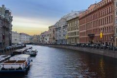 Ποταμός Moyka. Άγιος Πετρούπολη. Ρωσία. στοκ εικόνα με δικαίωμα ελεύθερης χρήσης
