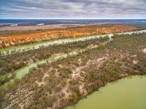 Ποταμός Murray που διαβρώνει τους απότομους βράχους ψαμμίτη Στοκ Εικόνα
