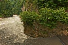 Ποταμός Mzymta Στοκ Εικόνες