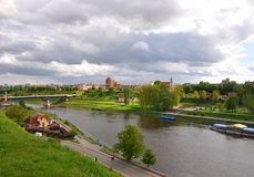 Ποταμός Neman Γκρόντνο belatedness Στοκ Φωτογραφία