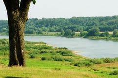 Ποταμός Nemunas στη Λιθουανία Στοκ εικόνα με δικαίωμα ελεύθερης χρήσης