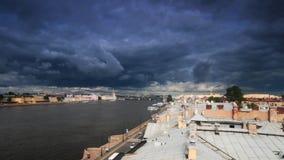 Ποταμός Neva ο περίπατος Des Anglais απόθεμα βίντεο