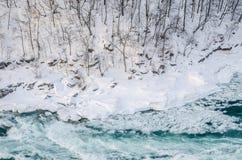 Ποταμός Niagara το χειμώνα, ΗΠΑ στοκ φωτογραφία