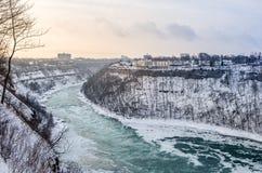 Ποταμός Niagara το χειμώνα, ΗΠΑ στοκ φωτογραφίες με δικαίωμα ελεύθερης χρήσης