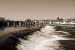 Ποταμός Nith Dumfries Σκωτία μονοχρωματική στοκ φωτογραφία