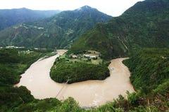 Ποταμός Nujiang Στοκ εικόνες με δικαίωμα ελεύθερης χρήσης