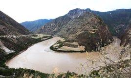 Ποταμός Nujiang Στοκ φωτογραφία με δικαίωμα ελεύθερης χρήσης