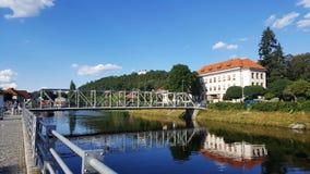 Ποταμός Otava, Δημοκρατία της Τσεχίας Στοκ Εικόνα