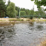 Ποταμός Otava, Δημοκρατία της Τσεχίας Annin στοκ φωτογραφία με δικαίωμα ελεύθερης χρήσης