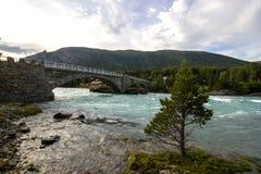 Ποταμός Otta σε Oppland στη Νορβηγία Στοκ εικόνες με δικαίωμα ελεύθερης χρήσης