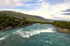 Ποταμός Otta σε Oppland στη Νορβηγία Στοκ φωτογραφία με δικαίωμα ελεύθερης χρήσης