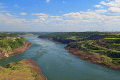 Ποταμός Paraná, Βραζιλία, Παραγουάη Στοκ Φωτογραφία