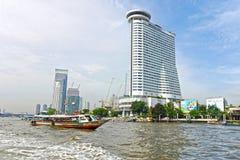 Ποταμός Phraya Chao, Μπανγκόκ Ταϊλάνδη Στοκ Φωτογραφία