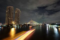Ποταμός Phraya Chao Στοκ Εικόνες
