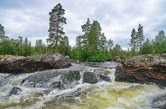 Ποταμός Pista, Καρελία Στοκ φωτογραφία με δικαίωμα ελεύθερης χρήσης