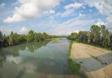 Ποταμός Po σε Settimo Torinese Στοκ Εικόνες