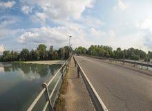 Ποταμός Po σε Settimo Torinese Στοκ φωτογραφία με δικαίωμα ελεύθερης χρήσης