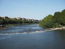 Ποταμός Po στο Τορίνο Στοκ Φωτογραφίες