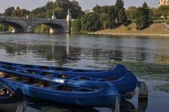 Ποταμός Po στο Τορίνο Στοκ Φωτογραφία